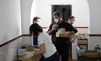 Grupo de voluntarios de Cáritas San Vicente.