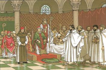 Concile de Troyes - Les Voyages de Jhen – Les Templiers - Ed. Casterman