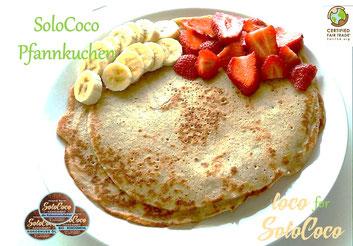 Rezept für SoloCoco Pfannkuchen mit Kokosöl und Kokosmehl