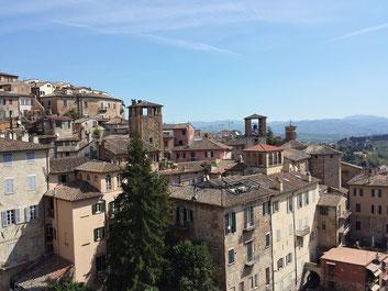 Ausblick über Perugia