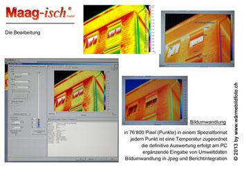 Wärmebildaufnahmen müssen im bürl analysiert werden www.wärmebildfoto.ch