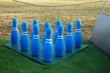 Fussball Bowling mieten Frankfurt Oberursel Bad Homburg Friedberg Bad Vilbel Kindergeburtstag Idee feiern Fussballparty