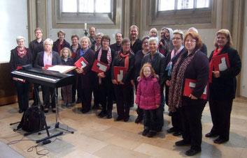 Die Gruppe Auftakt nach dem Auftritt in St. Vitus am 08.11.15 - Foto: Auftakt