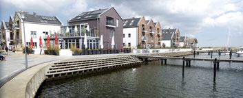 Bild: Ferienwohnungen am Marinefafen von Heiligenhafen