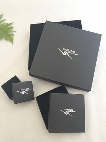 Ecrins bijoux mariposa créations, packaging personnalisé