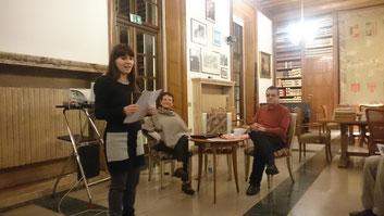 Elisa Saltetto (Bibliothekarin), Elke Atzler (Direktorin), Rainer Murauer (Historiker)