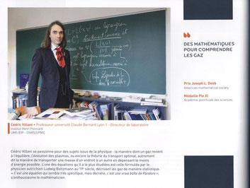 Extrait d'un portrait de Cédric Villani pour l'université Pierre et Marie Curie.