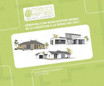 3 styles de maisons: maison bois plain pied, maison traditionnelle de plain pied, maison moderne à étage