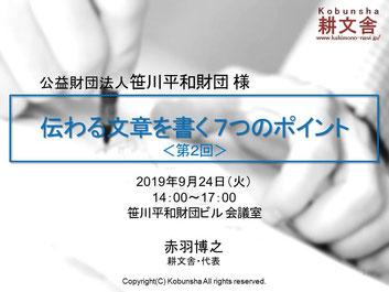 公益財団法人笹川平和財団様(東京都港区)