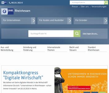 Webseite zur IHK Rheinhessen