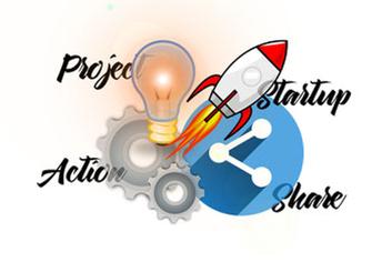 Startup als Aktion bei einem Projekt