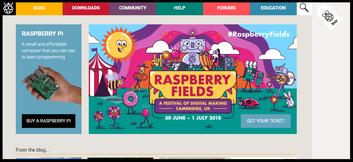 Captura de la web oficial: www.raspberrypi.org