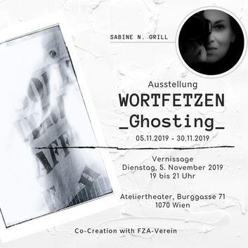 Ausstellung, Vernissage, Ateliertheater, Ankündigung