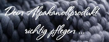Alpakawolle richtig pflegen Alpaka Alpakawollprodukt Pflegeleicht Waschanleitung