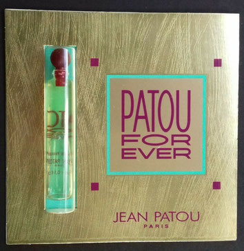 JEAN PATOU - PATOU FOR EVER : TUBE ECHANTILLON SUR CARTE
