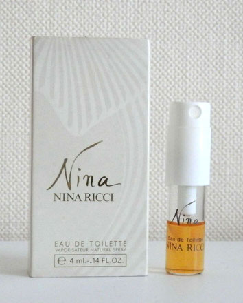 NINA 1ère VERSION - ECHANTILLON SPRAY EAU DE TOILETTE 4 ML