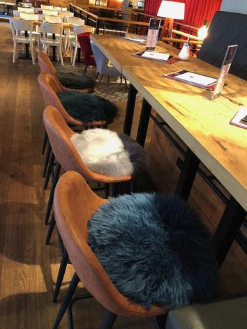 Sitzkissen aus echtem Fell