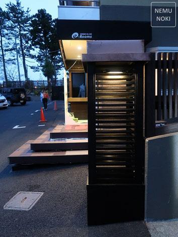 木製門柱、オイルステイン塗装、銅板笠木、LEDライト、施工例
