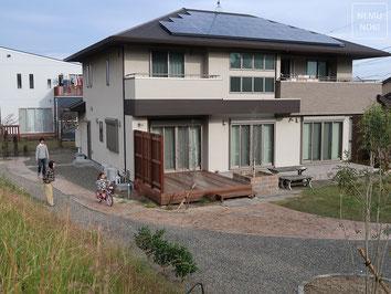 アンティークレンガ、芝生、枕木、イタウバ、ウッドデッキ、コンクリート枕木、施工例