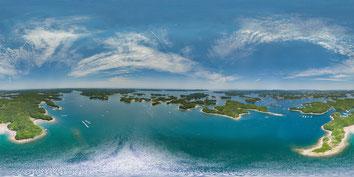 志摩市 英虞湾に浮かぶ小さな島々