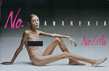 Isabelle Caro No Anorexia Nolita billboard