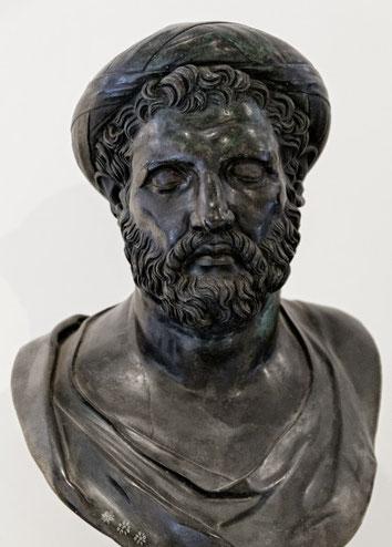 Предполагаемый бюст Пифагора. Римская бронзовая копия с греческого оригинала