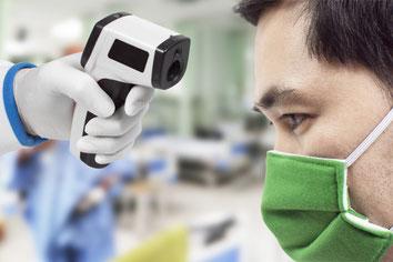 Al acudir a consulta se te toma lectura de la temperatura, para asegurarnos que no tengas un cuadro de fiebre.