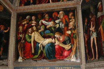 San Giorgio a Palazzo - Affreschi della Cappella del Sacramento