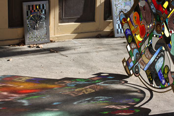 Kunstverglasung Fensterglas Glaskunst AHA Seniorenresidenz Draupark Villach Mosser Café