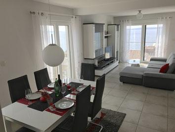 Wohn- und Esszimmer der Wohnung Sarah