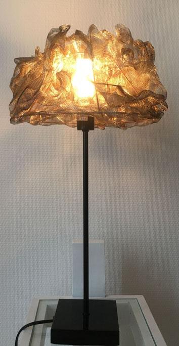 lampe boules led acier inoxydable inox unique ambiance voile