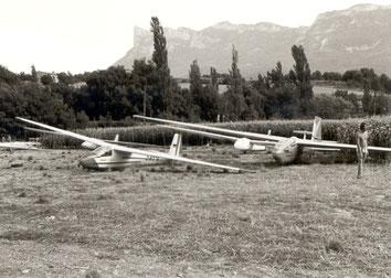 Der Feldflugplatz im Drome-Tal