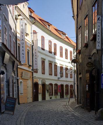 Altstadtstraße in Krumau an der Moldau