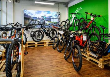 Hercules e-Bikes und Pedelecs in der e-motion e-Bike Welt in Bochum