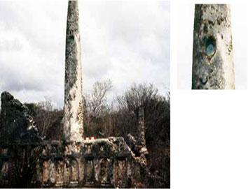 Omwe Tomba H, con ciotola Kashan nera e turchese nel pilastro