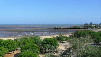 Malindi harbor and Vasco da Gama pillar