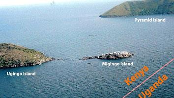 Mappa di Migingo - Lago Vittoria, Kenya