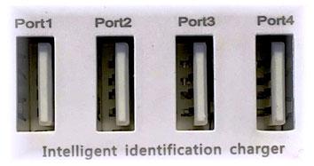 100 % sicherer Ladevorgang für bis zu 4 Geräte gleichzeitig