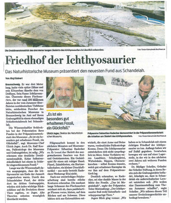 Braunschweiger Zeitung vom 4.8.2016