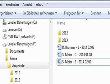 Dokumentenstruktur am PC