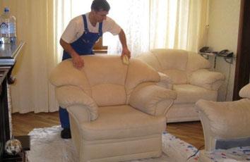 чистка кожаной мебели в Химках