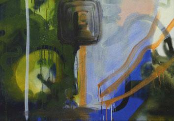 Jakob F. Rieder, 2019, ohne Titel, Oel auf Baumwolle, 180 x 145 cm / Ausschnitt