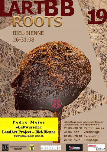 Pedro Meier «Luftwurzeln» Land Art Biel-Bienne