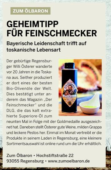 Geheimtipp, Der Feinschmecker, DLG, Olivenöl, Ernte, Bioprodukt