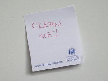 Clean Me, Reinige mich, Treppenhausreinigung