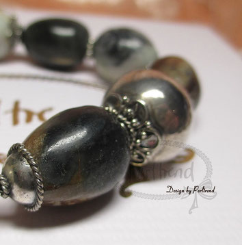 www.perltrend.com Armschmuck Armband Bracelet Multi Jaspis Silver Silber Edelsteine Gemstone schwarz grau braun Schmuck Perltrend Luzern Schweiz Onlineshop Shop