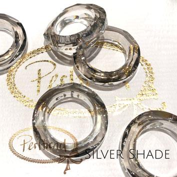 www.perltrend.com Swarovski Crystal Elements original Crystals Perltrend Luzern Schweiz Onlineshop Schmuck Jewellery Schmuckverarbeitung Cosmic Ring Silver Shade 30 mm