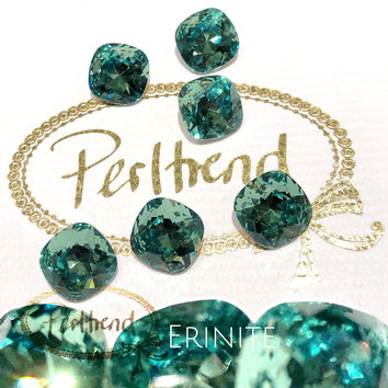 Perltrend Luzern Schweiz Onlineshop Schmuck Perlen Accessoires Verarbeitung Design Swarovski Crystals Crystal original Fancy Stones Cabochons Round Square Cushion 4470 12 mm Erinite grün green