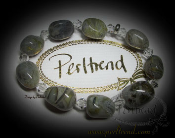 Armschmuck Perltrend Grau Braun Grün Stone www.perltrend.com Perltrend Luzern Schweiz Online shop Schmuck Jewellery Jewelry Blumenachat Edelstein Perlen Gemstone Flower Achat Beautiful Grey Brown Green Armband Bracelet