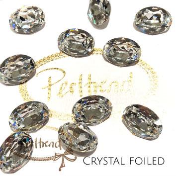 Perltrend Luzern Schweiz Onlineshop Schmuck Perlen Accessoires Verarbeitung Design Swarovski Crystals Crystal original  Fancy Stone oval 18 mm facettiert Crystal